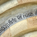 Gothic lettering on a church, Gotland