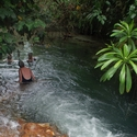 Hot river bathing, Garu West New Britain