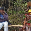 Joesph and Huli man, Ambua PNG