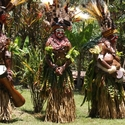 Ladies performing singsing. Polga Village Melpa People, Mount Hagen PNG