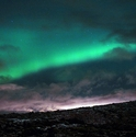 Northern Lights over Lava Fields