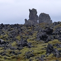 Snaefellsnes Lava Fields and Granite Pillars
