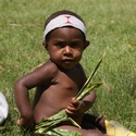 Getting ready for a singsing. Polga Village Melpa People, Mount Hagen PNG