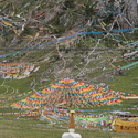 Prayer flags south of Litang